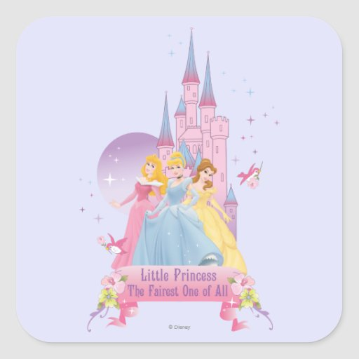 LIttle Princess Fairest One of All Square Stickers