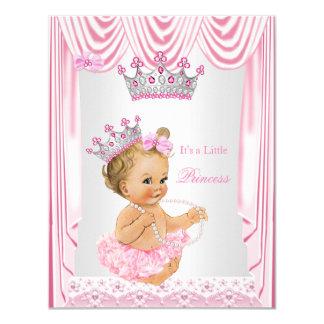 Little Princess Girl Baby Shower Pink Blonde Card