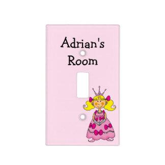 little princess girl (blonde hair) - kids room light switch plate