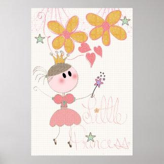 Little Princess Girls Nursery Poster