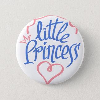 little princess heart design button