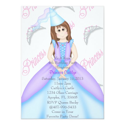 "Little Princess Invitation 5.5"" X 7.5"" Invitation Card"