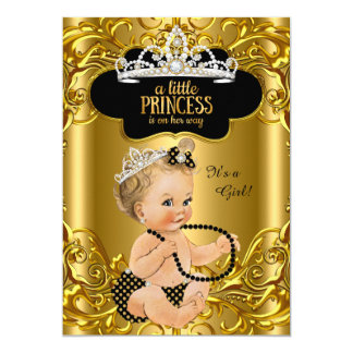 Little Princess is on her way Baby Shower Blonde Card