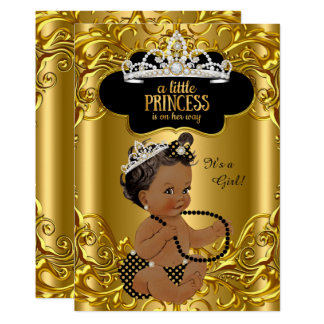 Little Princess is on her way Baby Shower Ethnic Card