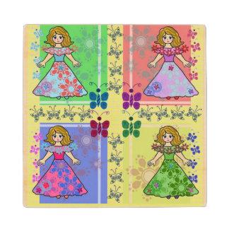 little princess wood coaster