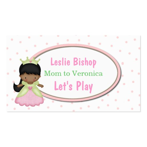 Little Princess Mommy Play Date Card Business Card