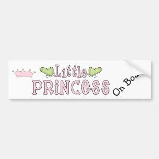 Little Princess on Board Bumper Sticker