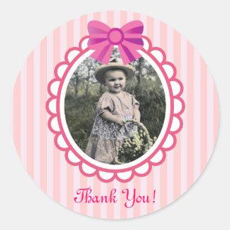 Little Princess Pink Birthday Round Sticker