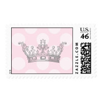 Little Princess Pink & Gray Postage Stamps