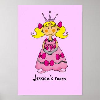 Little princess room (blond hair) poster