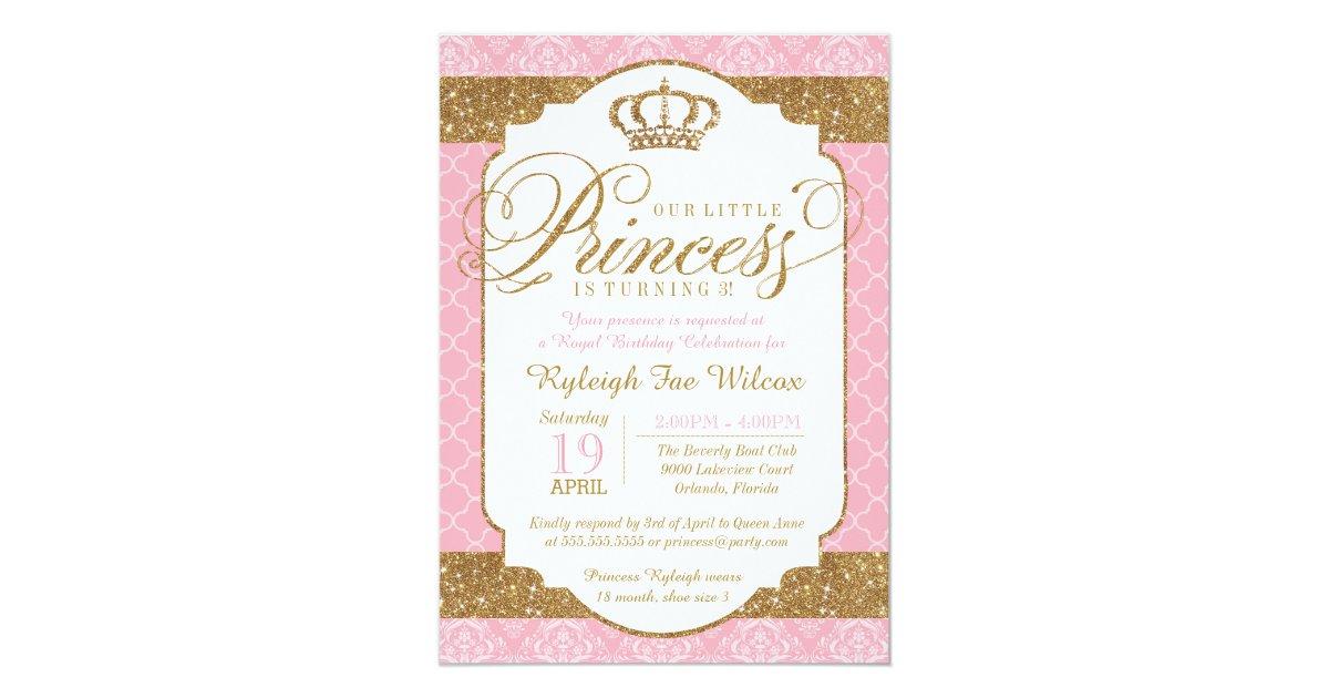 Princess Birthday Invitations Announcements Zazzle - Birthday invitation princess