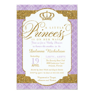 Royal Princess Invitations Announcements Zazzle