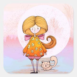 Little Princess Square Sticker