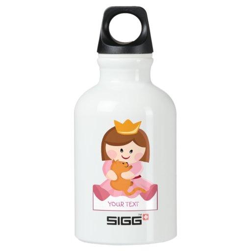 Little princess with cat brown hair SIGG traveler 0.3L water bottle
