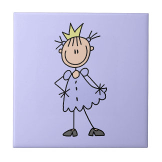 Little Princess With Crown Small Square Tile