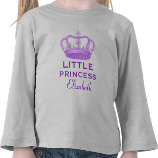 Little Princess with Purple Crown V20 T Shirt