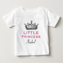 Little Princess with Vintage Crown V09 Baby T-Shirt