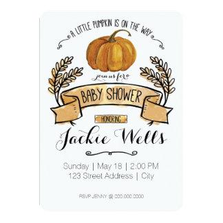 Little Pumpkin Baby Shower Card