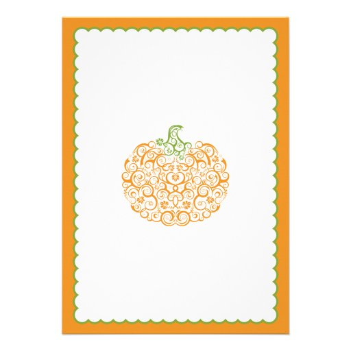 Little Pumpkin Baby Shower Invitation II (back side)