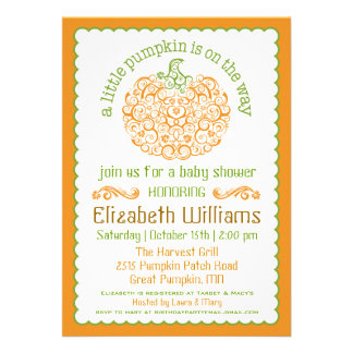 Browse the Fall Baby Shower Invitations Collection and personalize by color, design, or style.