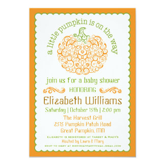 Little Pumpkin Baby Shower Invitation II