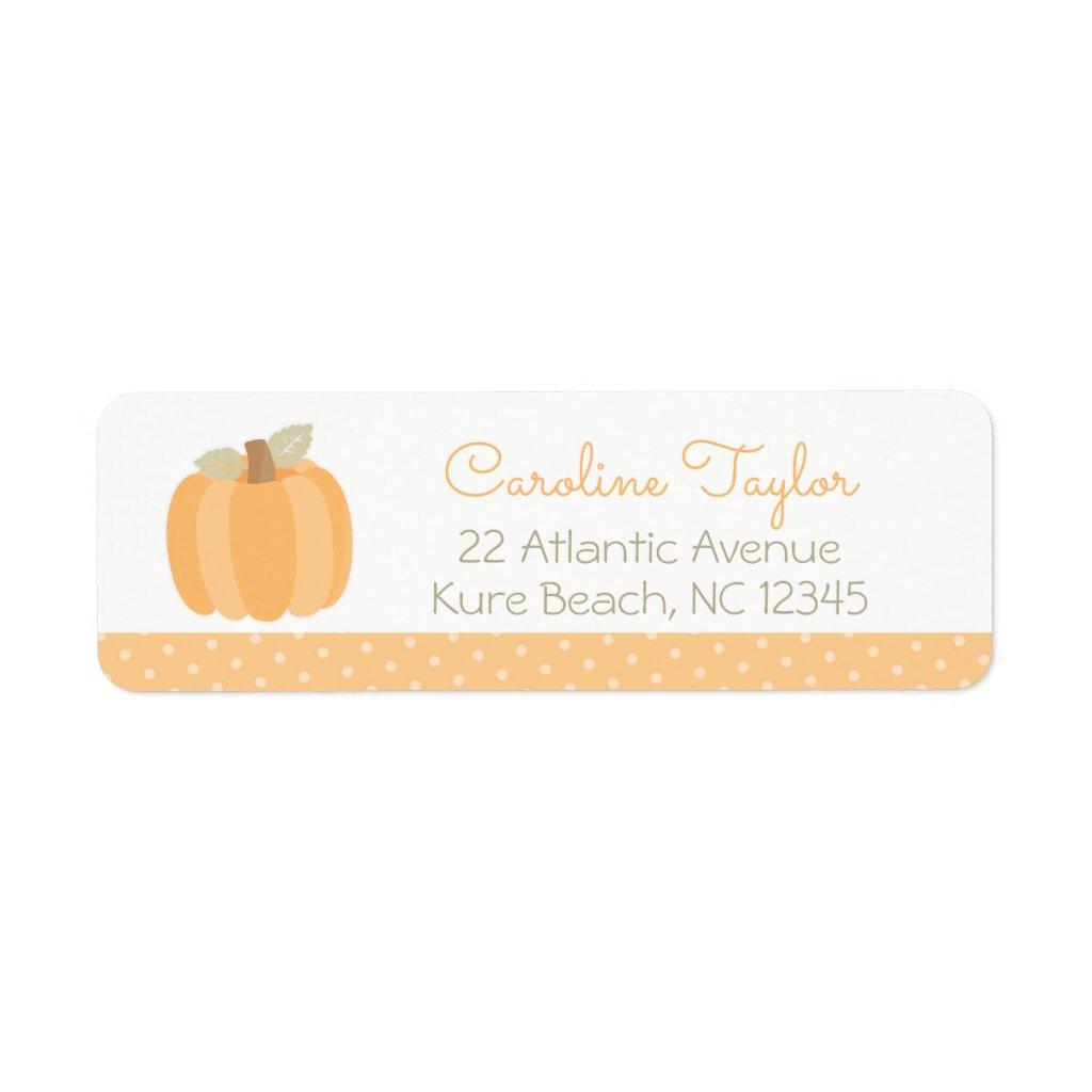 Little Pumpkin Baby Shower Label
