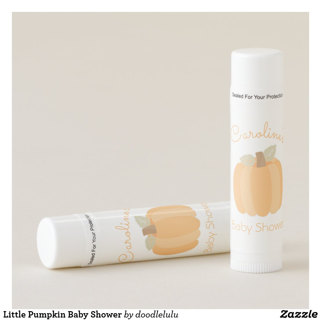 Little Pumpkin Baby Shower Lip Balm