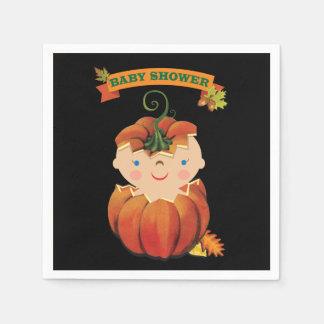 Little Pumpkin Baby Shower Napkins