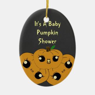little pumpkin baby shower ornaments
