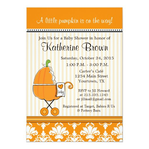 Little Pumpkin Baby Shower Invitations correctly perfect ideas for your invitation layout