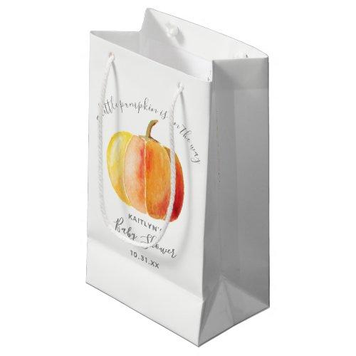 Little Pumpkin Baby Shower Small Gift Bag