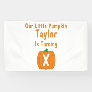Little Pumpkin Birthday Banner