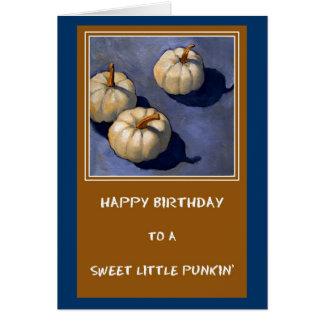 LITTLE PUMPKIN BIRTHDAY CARD