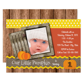 Little Pumpkin Birthday Party Invitation