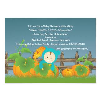 Little Pumpkin Boy Baby Shower Invitation