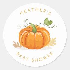 Little pumpkin Envelope seal sticker Baby shower