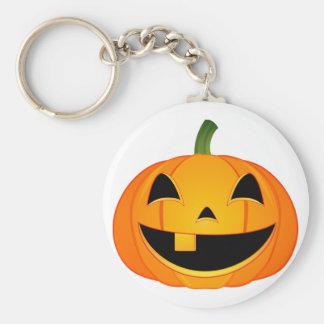 Little Pumpkin Face Basic Round Button Keychain