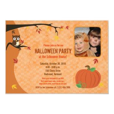 Little Pumpkin Fall Autumn Photo Party Invitation