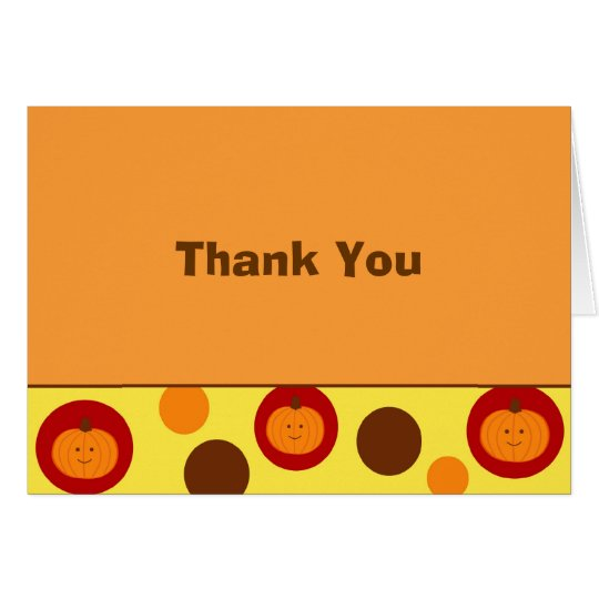 Little Pumpkin Fall Autumn Thank You Note Cards