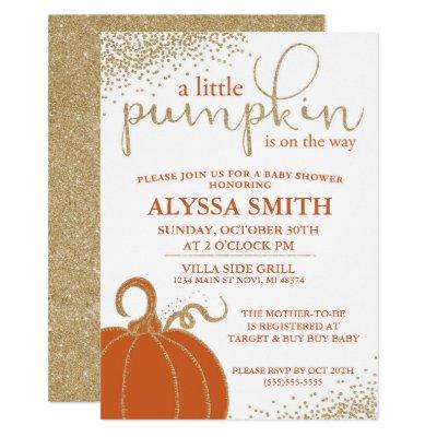 Nice A Little Pumpkin Baby Shower Invitation   Zazzle.com