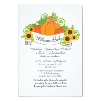 little pumpkin FALL BABY SHOWER invitation dk skin