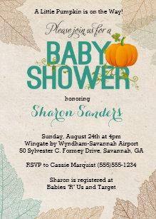 Fall themed baby shower invitations zazzle little pumpkin fall themed baby shower invitation filmwisefo