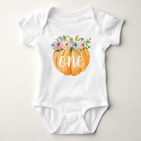 Little Pumpkin First Birthday Baby Bodysuit