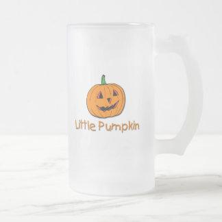 Little Pumpkin Frosted Glass Beer Mug