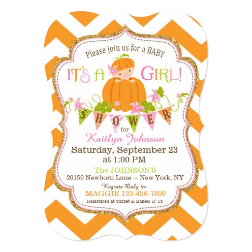 Little Pumpkin Baby Shower Invitations is an amazing ideas you had to choose for invitation design