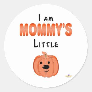 Little Pumpkin I Am Mommys Little Pumpkin Classic Round Sticker