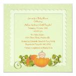 """Little Pumpkin Invitation 5.25"""" Square Invitation Card"""