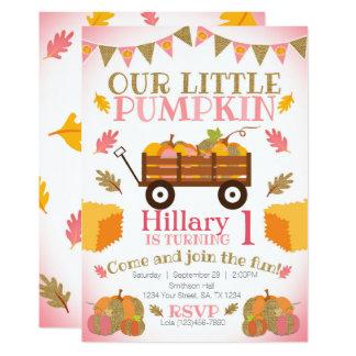 Little Pumpkin Invitation, Pumpkin Patch Birthday Card