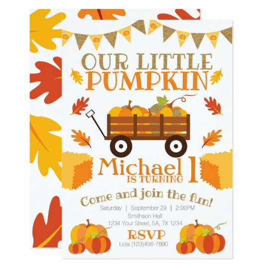 little pumpkin invitation pumpkin patch birthday invitation