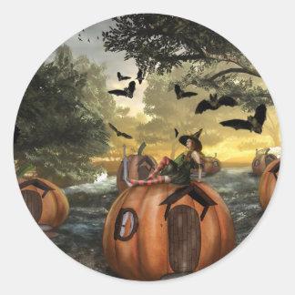 Little Pumpkin Land (Stickers) Classic Round Sticker